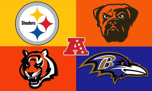 AFC North logo with teams