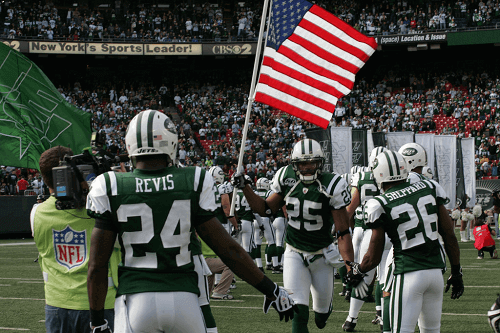 new york jets on the field