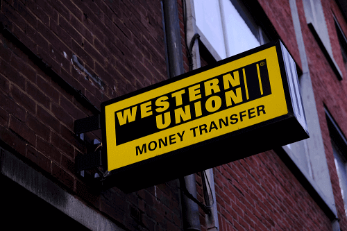 western union sign