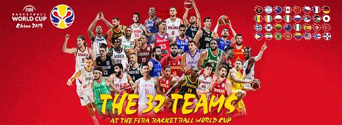 FIBA World Cup 2019 teams