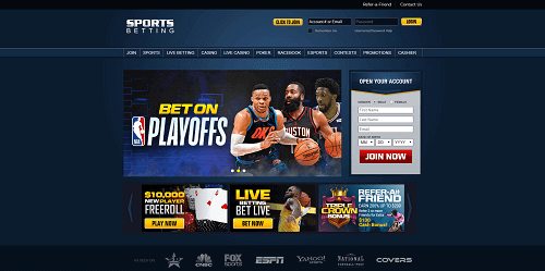 SportsBetting.ag homepage