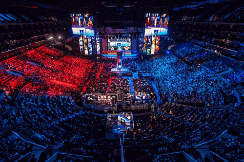 eSports tournament in an arena