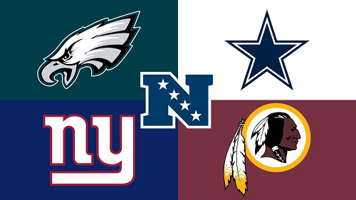 logos of NFC east