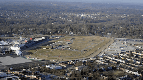 Aerial view of Pimlico race track