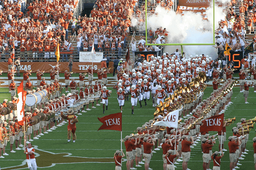 Texas Longhorns football match