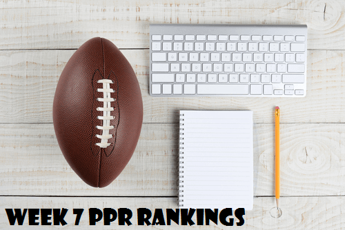 fantasy football rankings week 7 nfl