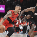 portland trail blazers at houston rockets NBA USA