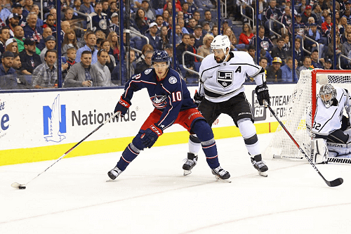 columbus blue jackets at los angeles kings NHL USA
