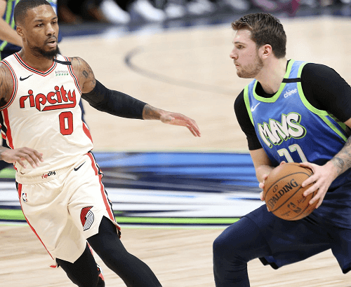 dallas mavericks at portland trail blazers nba usa