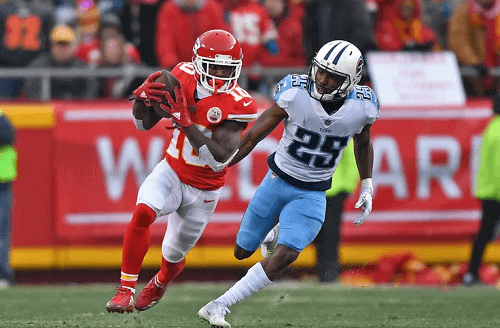 tennessee titans at kansas city chiefs NFL odds